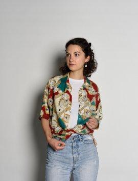 90s crazy pattern shirt, Gr.M