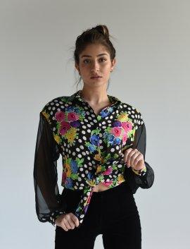 crazy pattern Bluse, Gr.38