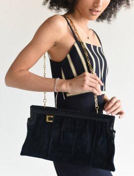 80s Chain bag schwarz